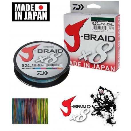J-Braid x8 Multicolour 150m